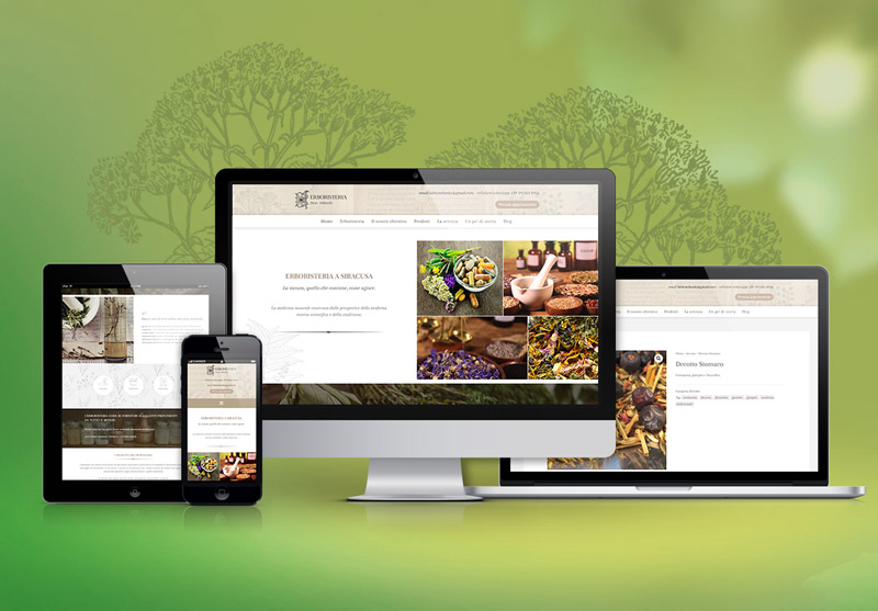 erboristeria milardo web design
